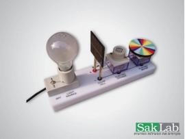 אנרגיה סולארית עם זמזם+דיסקית ניוטון ומנורה