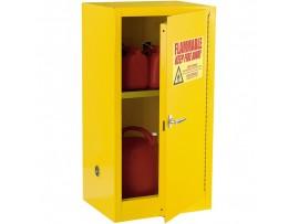 ארון אחסון חומרים דליקים צהוב דלת ידנית תכולה 15 גלון
