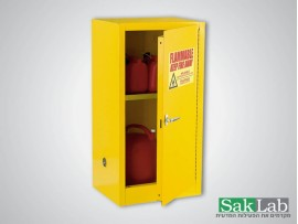 ארון אחסון צהוב חומרים דליקים 18 גלון כולל מדף 46*110*61