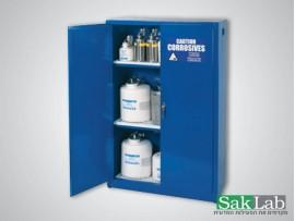 ארון אחסון כחול קורוזיביים נפח 12 גלון דלת אחת מספר מדפים 1
